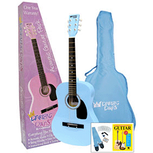 Darling Divas 3/4-size Children&#039;s Acoustic Guitar Starter Package - Nylon String, Powder Blue
