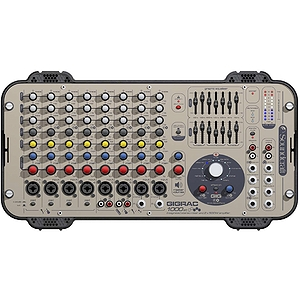 Soundcraft Gigrac 1000 Professional 8-channel Powered Mixer - 2 x 500-watt