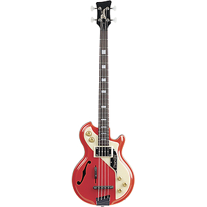 Italia Mondial Bass 4-string Bass Guitar - Red