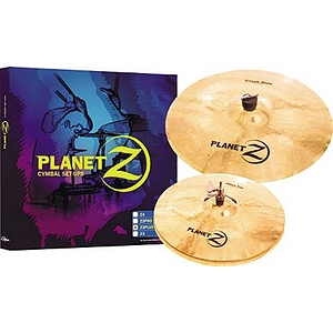 "Zildjian Planet Z Cymbal Pack - 2 x 13"" Hi-hat, 1 x 18"" Crash/Ride"