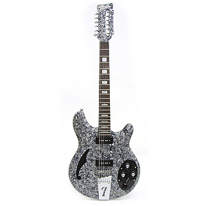 Italia Rimini 12-string Electric Guitar - Grey Pearloid