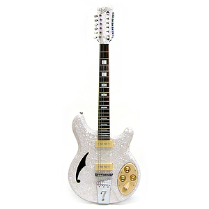 Italia Rimini 12-string Electric Guitar - White Pearloid