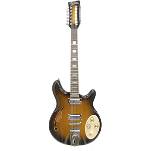 Italia Rimini 6-string Electric Guitar - Tobacco Sunburst