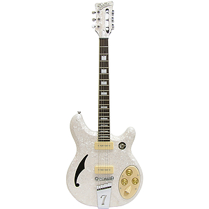 Italia Rimini 6-string Electric Guitar - White Pearloid