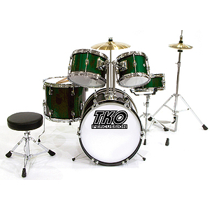 TKO TKO101 5-piece Children's Drum Set Green