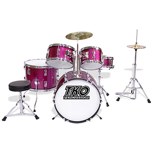 TKO TKO101 5-piece Children&#039;s Drum Set Magenta