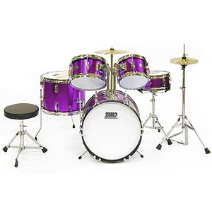 TKO TKO101 5-piece Children's Drum Set Metallic Purple
