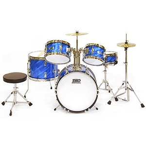 TKO TKO101 5-piece Children&#039;s Drum Set Prism Blue