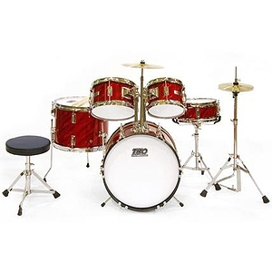 TKO TKO101 5-piece Children's Drum Set Prism Red
