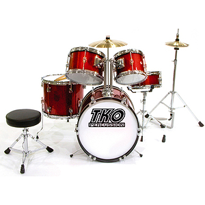 TKO TKO101 5-piece Children&#039;s Drum Set Red