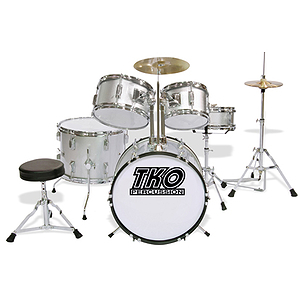 TKO 5-Piece Junior Drum Set - Silver