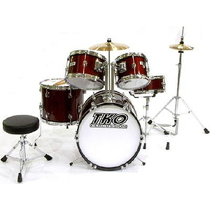 TKO 5-Piece Junior Drum Set - Wine Red