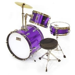 TKO TKO99 3-piece Children&#039;s Drum Set Metallic Purple
