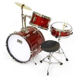 TKO TKO99 3-piece Children&#039;s Drum Set Prism Red