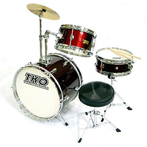 TKO 3-piece Junior Drum Set with Throne - Wine Red Finish