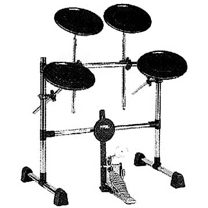 TKO PS2D Deluxe 5-piece Practice Pad Set with Rack System