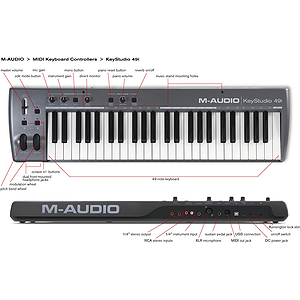 M-Audio KeyStudio 49i Keyboard Based Music Production System