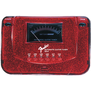 Fender® AG-6 Tuner - Red Sparkle