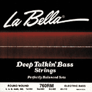 La Bella Deep Talkin' Bass Guitar Strings - Flatwound Medium, 1 set
