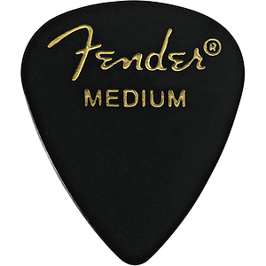 Fender® #351 Classic Black Picks - 144 Medium Picks