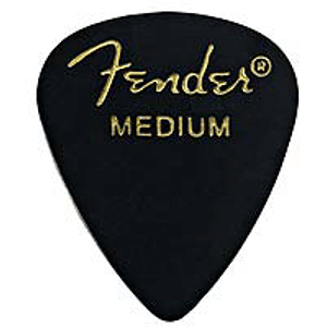 Fender® #351 Classic Black Picks - 144 Heavy Picks