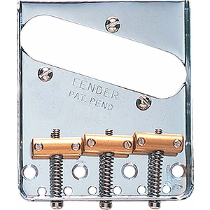 Fender® Vintage Telecaster® 3 Saddle Bridge Assembly - Chrome