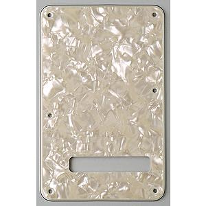 Fender® Stratocaster® 4-Ply Backplate - White Moto