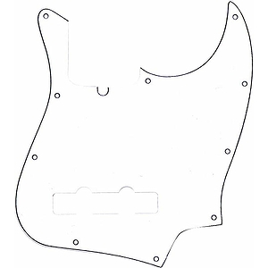 Fender® American Series Jazz Bass®  10 Hole Pickguard - White