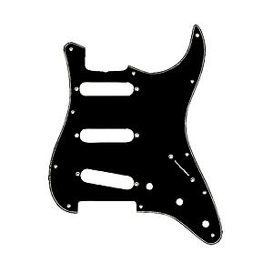 Fender® Standard Stratocaster® Pickguard - Black