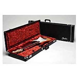 Fender® Deluxe Hardshell Case for Left-Handed Strats & Teles - Black