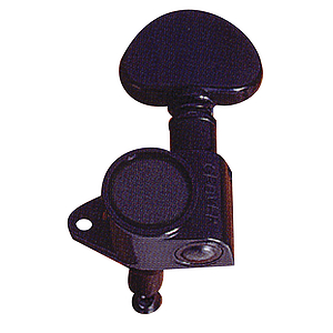 Grover 102BC Tuning Machines Black Chrome 3+3 Rotomatic