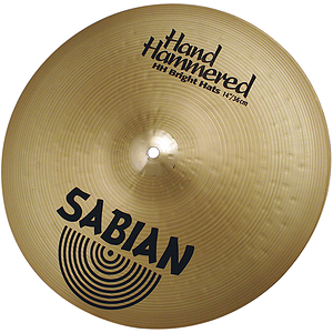 Sabian Hand Hammered HH Bright Hi-hat Cymbals (pair) - Brilliant - 14-inch