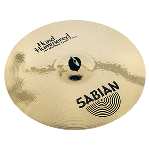 "Sabian HH Hand Hammered 16"" Medium Crash Cymbal - Brilliant Finish"