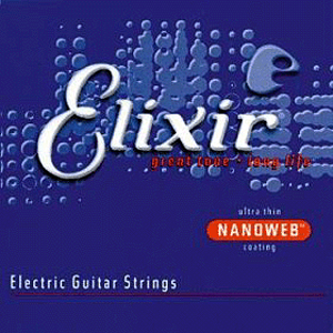 Elixir Electric Guitar Strings with Ultra-Thin Nanoweb Coating - Custom Light