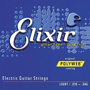 Elixir Electric Guitar Strings with Original Polyweb Coating - Light