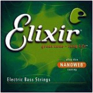 Elixir Bass Strings with Ultra-Thin Nanoweb Coating - Medium