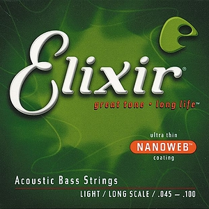 Elixir Bass Strings with Ultra-Thin Nanoweb Coating - Acoustic Light