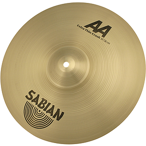 Sabian AA Extra Thin Crash Cymbal - Brilliant - 14-inch