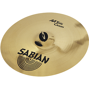 Sabian AA Thin Crash Cymbal - Brilliant - 16-inch