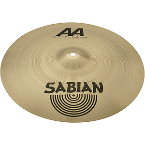 Sabian AA Medium Thin Crash Cymbal - Brilliant - 16-inch