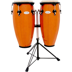 "Toca Synergy 2300AMB 10"" & 11"" Wood Conga Set - Amber"