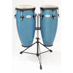 "Toca Synergy 2300BB 10"" & 11"" Wood Conga Set - Bahama Blue"