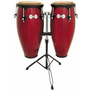 "Toca Synergy 2300RR 10"" & 11"" Wood Conga Set - Rio Red"