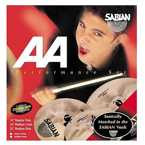 Sabian AA Performance Cymbal Pack, Brilliant - Without Bag