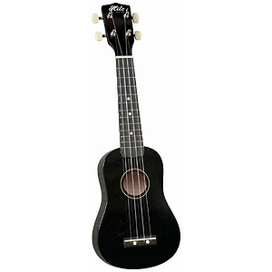 Hilo Soprano Ukulele with Gig Bag - Black