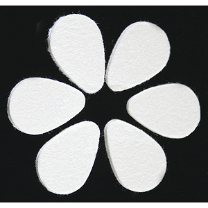 Grover Hard White Felt Picks - Oval, 12 pieces