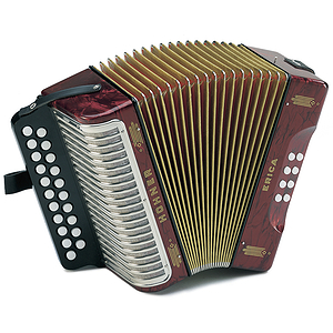 Hohner Erica Diatonic Accordion - Pearl Red, Key of GCF