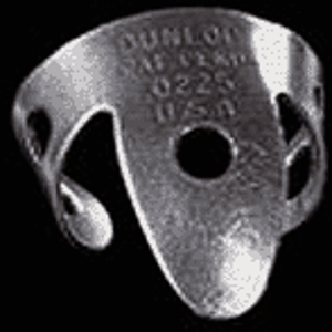 Dunlop Nickel Silver Metal Fingerpicks - .025in., tube of 20 picks