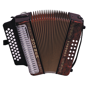 Hohner Corona II Diatonic Accordion - Pearl Red, Key of GCF