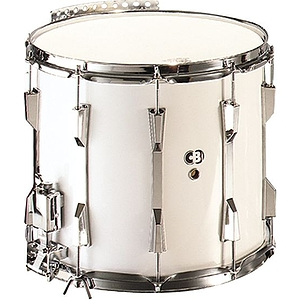 "CB Percussion 3662 Tournament Series 12"" x 14"" White Marching Snare Drum"